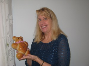 Peachie with Bread Bear
