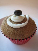 Coffee & Cream Cupcake with White Chocolate