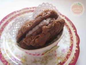 Creme de Menthe Brownie Sandwich 1