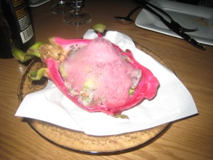 Dragon Fruit Ceviche