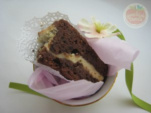 Tiramisu Brownie in Teacup