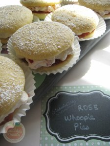 Strawberry Rose Whoopie Pies 2