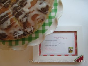 Cream-Filled Coffee Cake with Sign