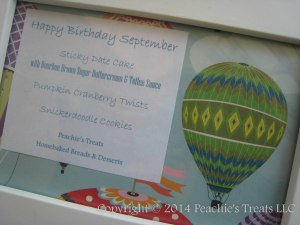 September Hot Air Balloon Birthday Sign